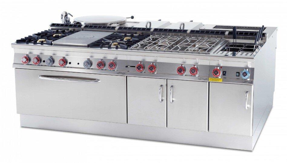 ba57015f726 Cocina a gas Lotus PCT-94G encimera. 2 fuegos a gas, Potencia 7+4 = 11 kw.