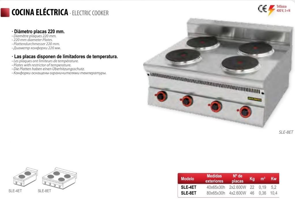 Cocinas el ctricas industriales frigelu maquinaria for Cocina a gas y electrica