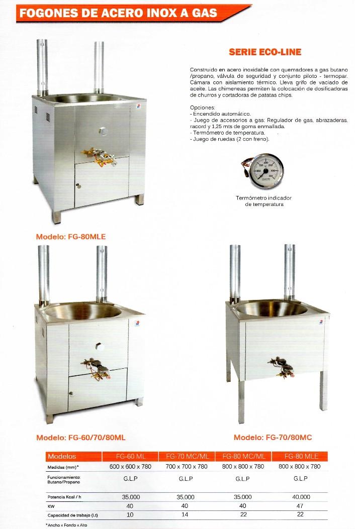 Fogones frigelu de refrigeraci n s l for Fogones industriales a gas