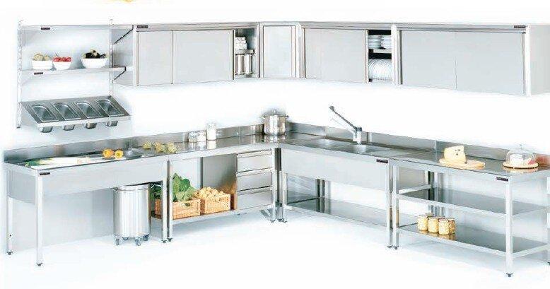 Mesas de preparaci n y lavado frigelu de refrigeraci n s l for Mobiliario cocina restaurante