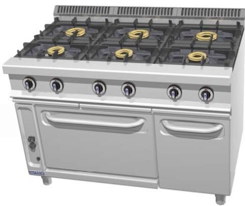 Cocinas a gas series 700 y 900 frigelu de refrigeraci n s c for Cocina 6 fuegos repagas